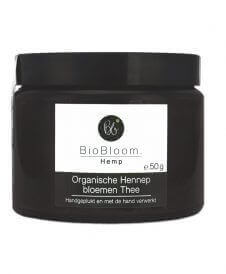 BioBloom Hennepbloem thee in glas 50g Bio