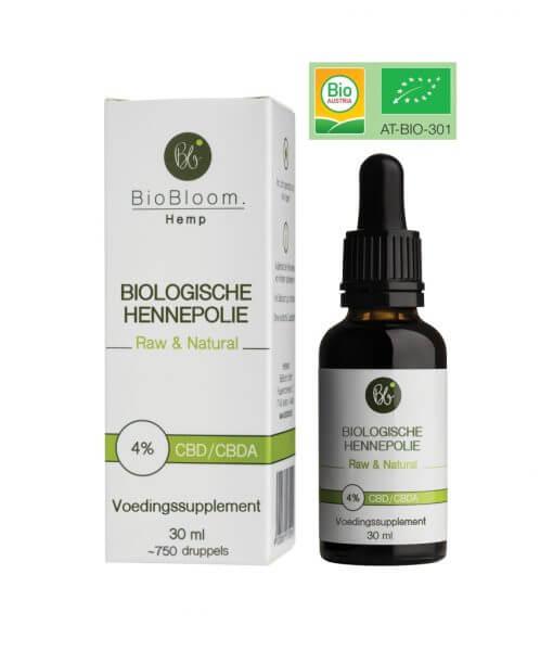 BioBloom Raw CBD olie Bio 4 30ml