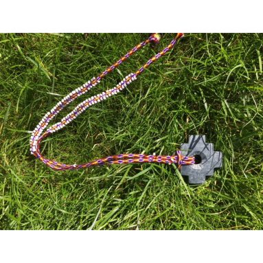 Chakana aan ketting rood paars
