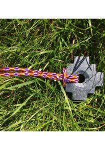 Chakana aan ketting rood paars1