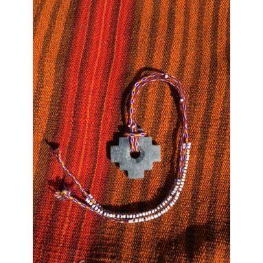 Chakana aan ketting rood paars2 1