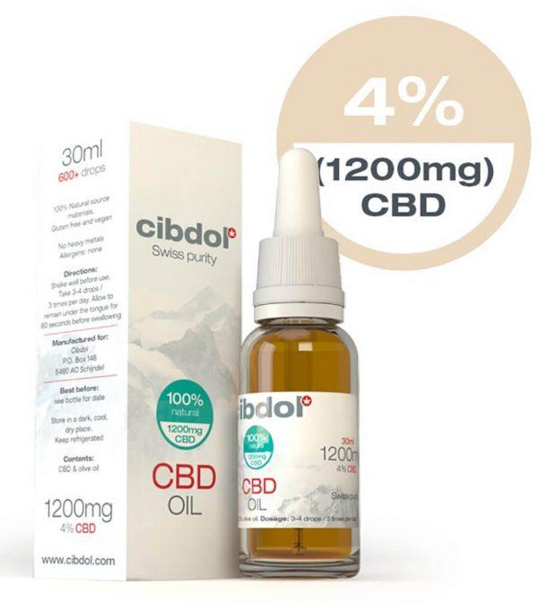 Cibdol CBD Olie 30ml 4% CBD