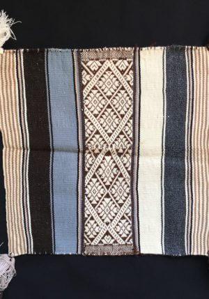 Traditioneel Despacho doek blauw bruin