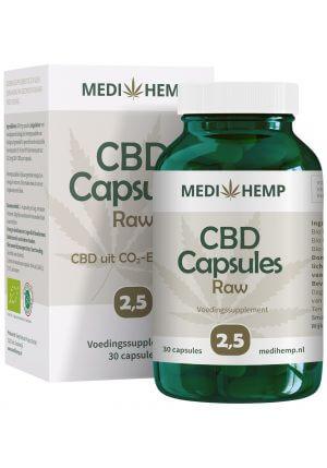 cbd capsules 25 medihemp raw