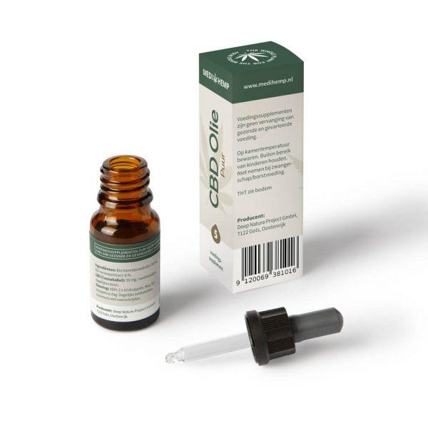 Biologische CBD Olie 5% 10ml (Medihemp)
