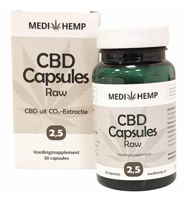 CBD Capsules 2,5% (Medhemp) Raw