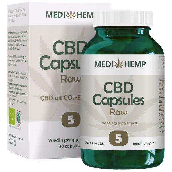 CBD Capsules 5% (Medihemp) Raw