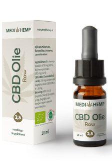 CBD Olie 2,5% 10ml (Medihemp) Raw