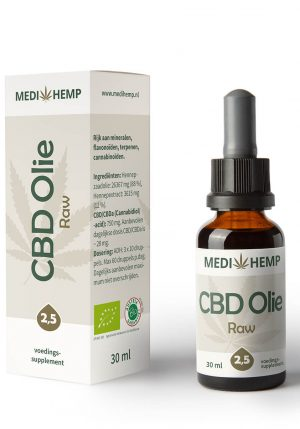 CBD Olie 2,5% 30ml (Medihemp) Raw