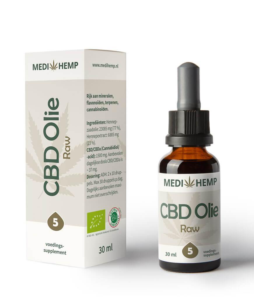 CBD Olie 5% 30ml (Medihemp) Raw